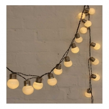 White Pop Lights Garland LED Fairy String Lights - Indoor / Outdoor