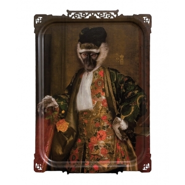 Galerie De Portraits Large Rectangular Tray / Wall Art - Cornelius The Monkey