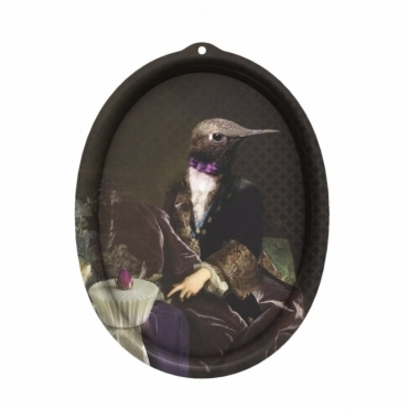 Galerie De Portraits Oval Tray / Wall Art - Honore