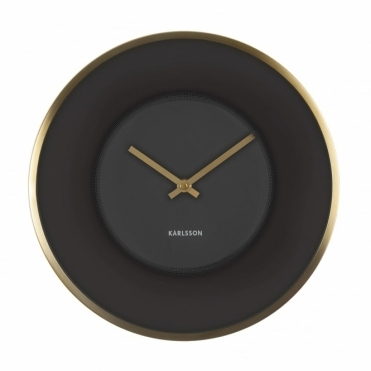 Illusion Black & Gold Wall Clock