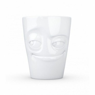 Impish Mischievous Face Mug with Handle