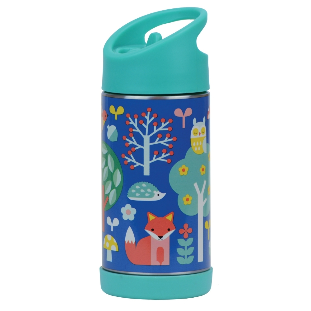 4bfd99e16c5b Petit Collage Insulated Children s Water Bottle Stainless Steel - Woodland