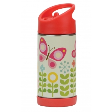 Insulated Water Bottle Stainless Steel - Butterflies