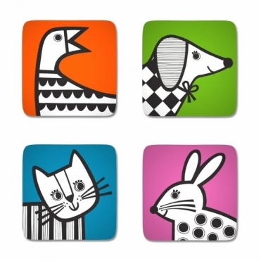 Animal Magic Coasters in Gift Box - Set of 4