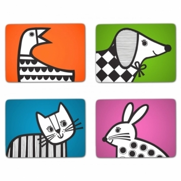 Animal Magic Placemats in Gift Box - Set of 4