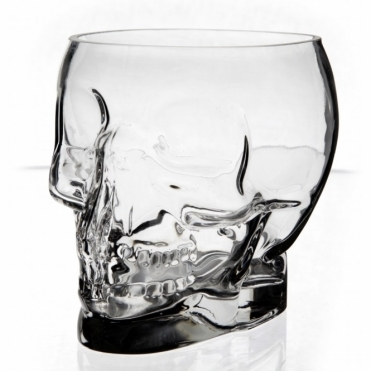 Crystal Skull Glass Bowl Container