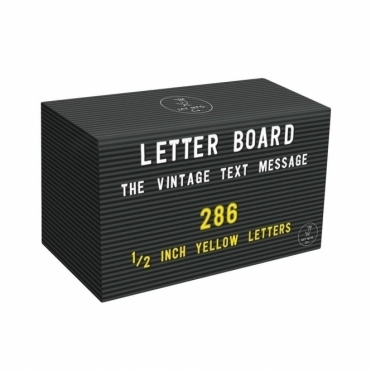 Letter Board 286 Yellow Letters & Numbers Pack