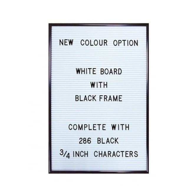 Jay White Letter Board With 286 Letters & Numbers