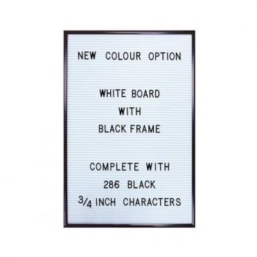 White Letter Board with 286 Letters & Numbers