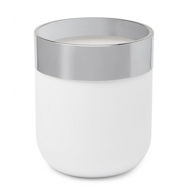 Junip Waste Bin - White / Chrome