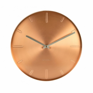Belt Copper Wall Clock