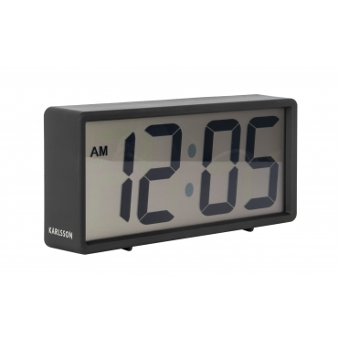 Coy Digital Rubberised Alarm Clock - Black