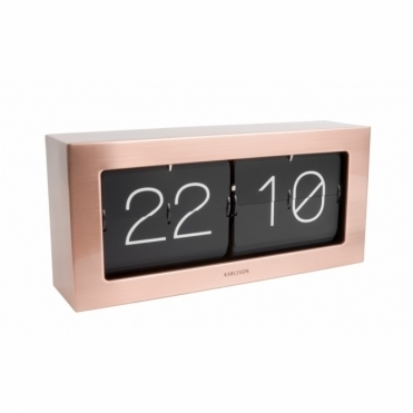 Extra Large Flip Clock Boxed - Brushed Copper