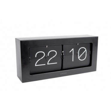 Extra Large Flip Clock Boxed - Matte Black