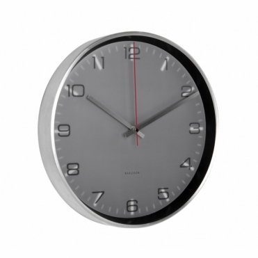 Hologram Aluminium Wall Clock - Black