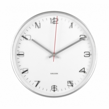 Hologram Aluminium Wall Clock - White