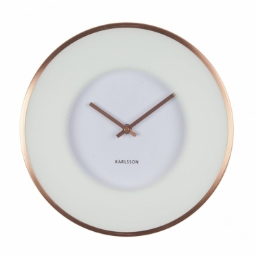 Illusion White & Copper Wall Clock