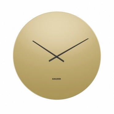 Mirage Glass Mirror Wall Clock - Gold