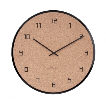 Modest Cork Wall Clock - Black