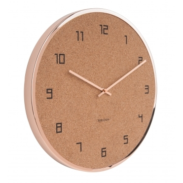 Modest Cork Wall Clock - Copper