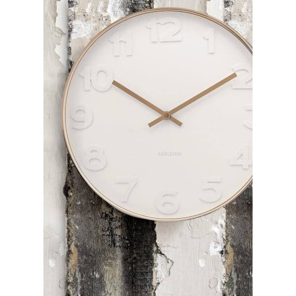Karlsson Mr White Numbers Copper Wall Clock Large