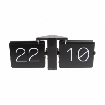 No Case Flip Clock - Matte Black