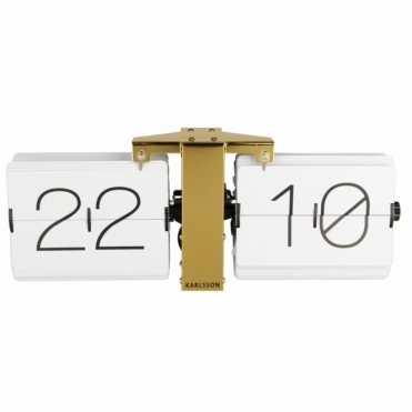 No Case Flip Clock White