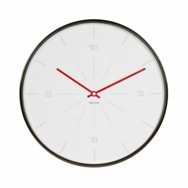 Thin Line Wall Clock - White