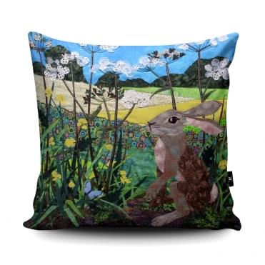 Kate Findlay Buttercup Hare Cushion With Insert