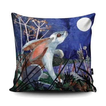 Kate Findlay Moonlight Hare Cushion With Insert