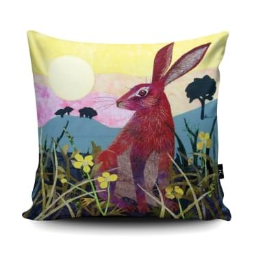 Kate Findlay Sunrise Hare Cushion With Insert