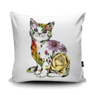 Katharine Baxter Rosie Cat Cushion With Insert