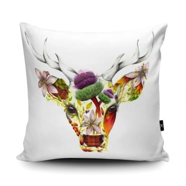 Katharine Baxter Stirling Stag Cushion With Insert