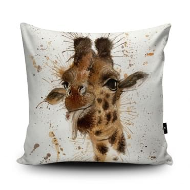 Katherine Williams Splatter Giraffe Cushion With Insert
