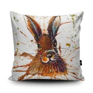 Katherine Williams Splatter Hare Cushion With Insert