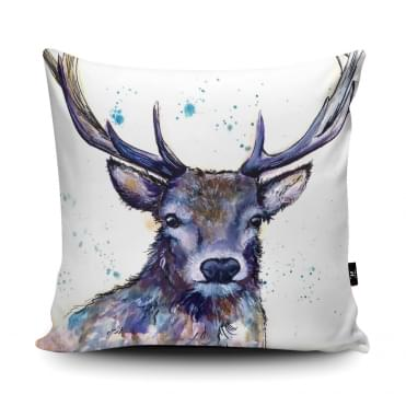 Katherine Williams Splatter Hart Stag Cushion With Insert