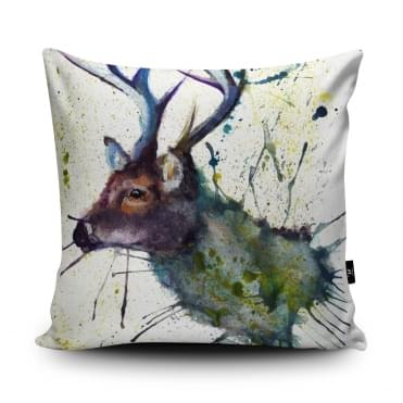 Katherine Williams Splatter Stag Cushion With Insert