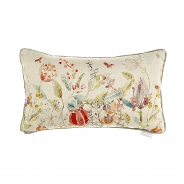 Kelston Cinnamon Floral Rectangular Cushion