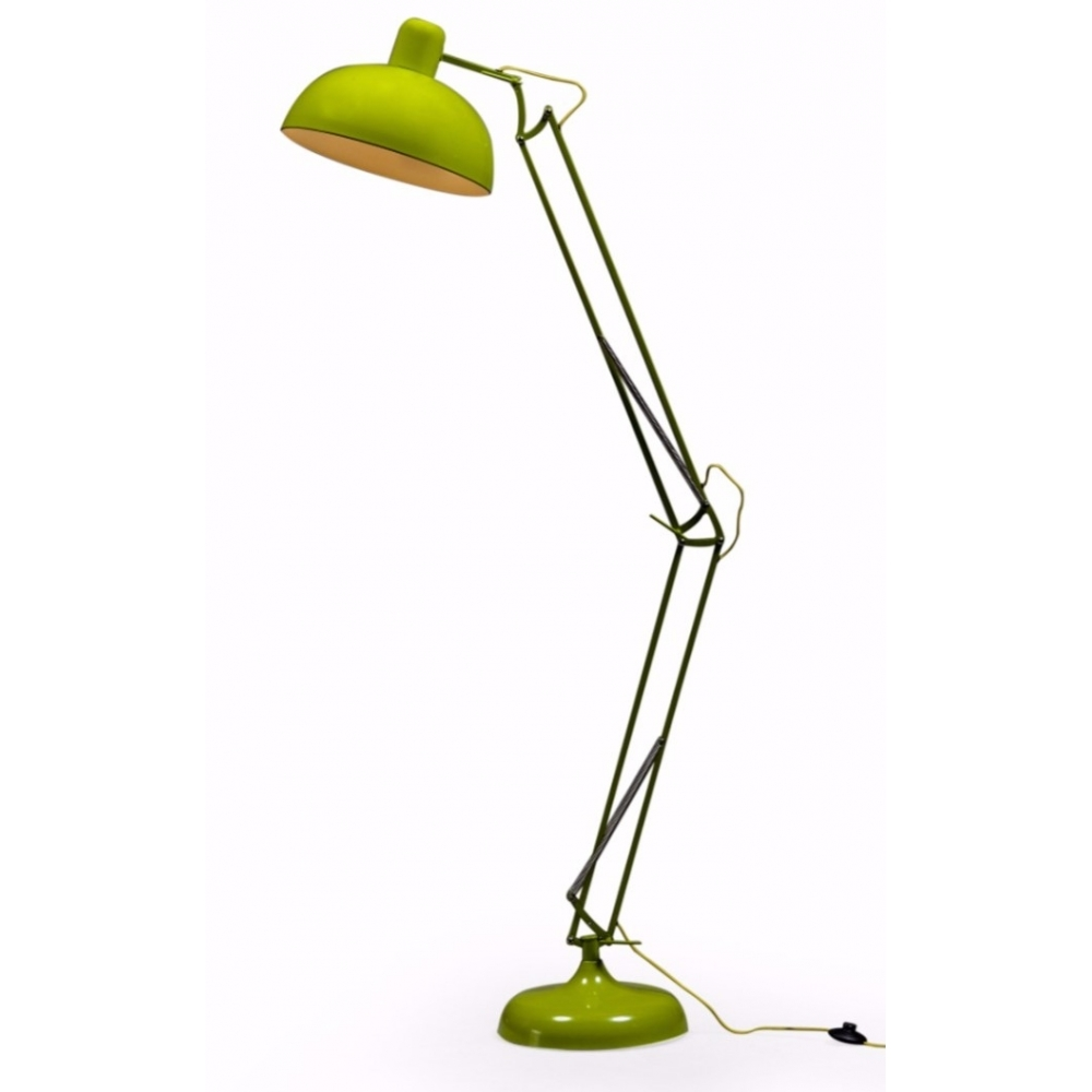 Large desk style angled floor lamp lime green hurn hurn large desk style angled floor lamp lime green aloadofball Images