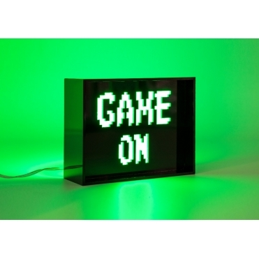 LED Acrylic Light Box - 'Game On'