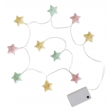 LED Fairy String Lights - Pastel Stars