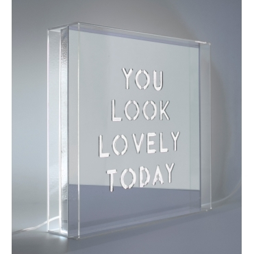 LED Mirror Acrylic Light Box - You Look Lovely Today