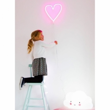 LED Neon Effect Heart Light - Pink