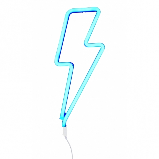 LED Neon Effect Lightning Bolt Light - Blue