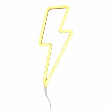 LED Neon Effect Lightning Bolt Light - Yellow