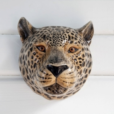 Leopard Head Wall Vase