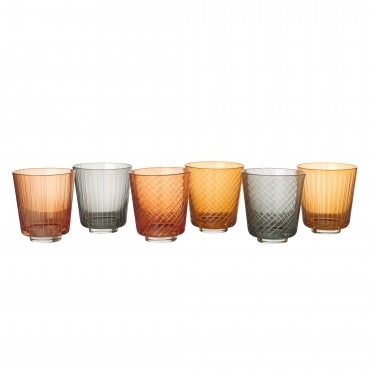 Library Tumbler Glass - Set of 6 Drinking Glasses