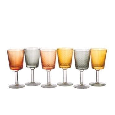 Library Wine Glass - Set of 6 Drinking Glasses