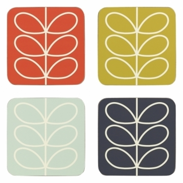 Linear Stem Coasters Assorted Colours - Set of 4
