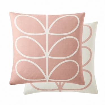 Linear Stem Cushion - Pale Rose